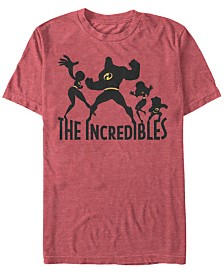 Disney Pixar Men's Incredibles Family Silhouette Short Sleeve T-Shirt
