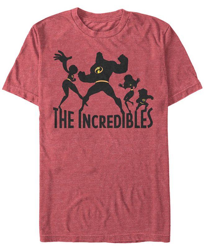 The Incredibles Disney Pixar Men's Incredibles Family Silhouette Short Sleeve T-Shirt