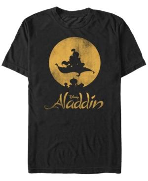 Disney Men's Aladdin Magic Carpet Silhouette Short Sleeve T-Shirt