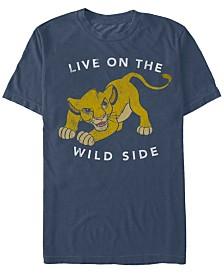 Disney Men's Lion King Simba Wild Side Short Sleeve T-Shirt