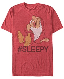 Disney Men's Snow White Sleepy Short Sleeve T-Shirt
