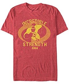 Disney Pixar Men's Incredibles Strength Mr. Incredible Short Sleeve T-Shirt