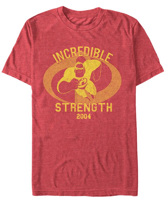 The Incredibles Disney Pixar Men's Incredibles Strength Mr. Incredible Short Sleeve T-Shirt