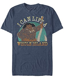 Disney Men's Moana I Can Lift a Whole Island Short Sleeve T-Shirt