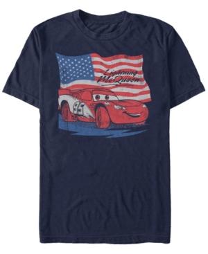 Lightning McQueen Distressed Flag Short Sleeve T-Shirt