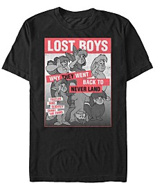 Disney Men's Peter Pan Lost Boys Classic Group Shot Poster Short Sleeve T-Shirt