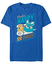 Disney Pixar Men's Toy Story 4 Happy Go Ducky Short Sleeve T-Shirt