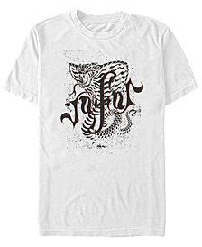 Disney Men's Aladdin Live Action Jafar Cobra Sketch Short Sleeve T-Shirt