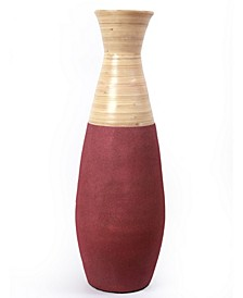 "Handcrafted Bamboo Floor Vase, 31.5"" Tall"