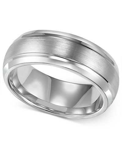 Triton Mens Cobalt Ring 8mm Wedding Band
