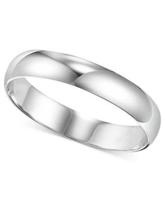 Mens Platinum Ring 4mm Wedding Band Rings Jewelry Watches