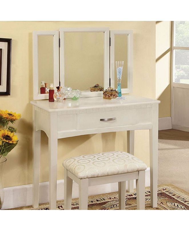 Benzara Vanity Table with a Stool