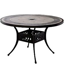 Benzara Novelty Round Patio Table