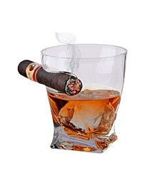 Bezrat Cigar Holder Twisted Drinking Glass