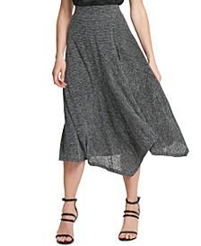 Striped Asymmetrical Skirt