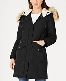 Hooded Faux-Fur-Trim Down Parka, Created for Macy's