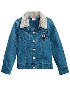 Disney Toddler Girls Faux-Fur-Trim Denim Minnie Mouse Jacket