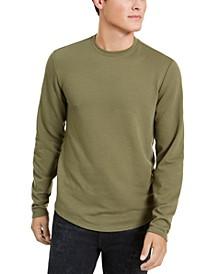 Men's Linear Textured Long-Sleeve T-Shirt