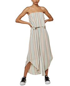 Juniors' Kyler Strapless Popover Jumpsuit