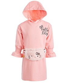 Hello Kitty Little Girls Faux-Fur Fanny-Pack Hooded Dress