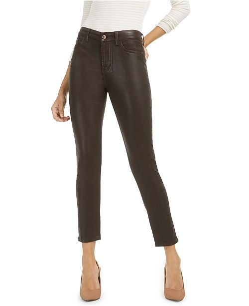 Jen7 by 7 For All Mankind Coated High Rise Ankle Skinny Jeans