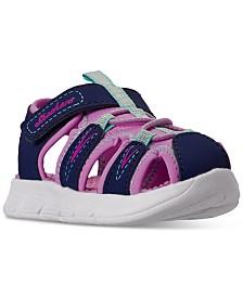 Skechers Toddler Girls C-Flex Stay-Put Closure Sport Sandals