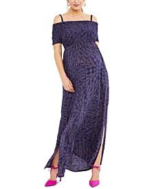 Maternity Off-the-Shoulder Maxi Dress