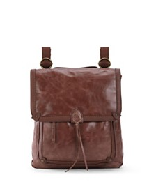 The Sak Ventura Leather Flap Backpack