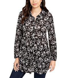 Printed Tiered Blouse, Created for Macy's