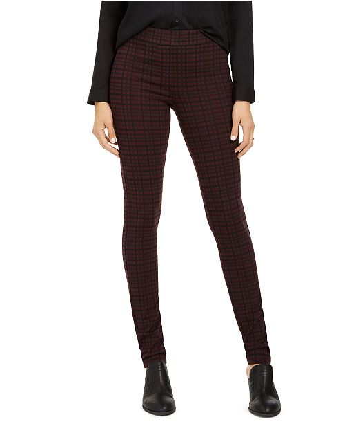 Style & Co Plaid Skinny Leggings, Created for Macy's