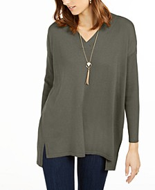 V-Neck Tunic Sweater, Created for Macy's