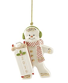 2019 Sledding Gingerbread Ornament