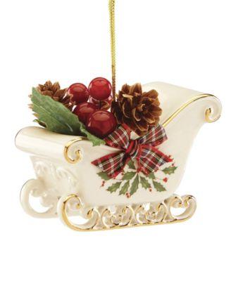 Holiday Sleigh Ornament