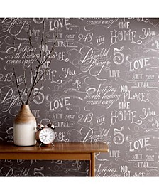 Graham Brown Chalk Board Grey Wallpaper