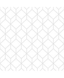 Graham Brown Myrtle Geo Gray Wallpaper