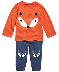 First Impressions Baby Boys Fox T-Shirt & Jogger Pants, Created for Macy's