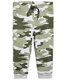 First Impressions Toddler Boys Camo Jogger Pants, Created For Macy's