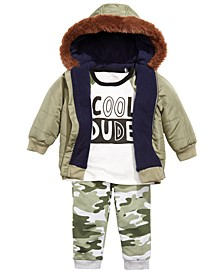 Baby Boys Jacket, Cool Dude T-Shirt & Joggers, Created For Macy's