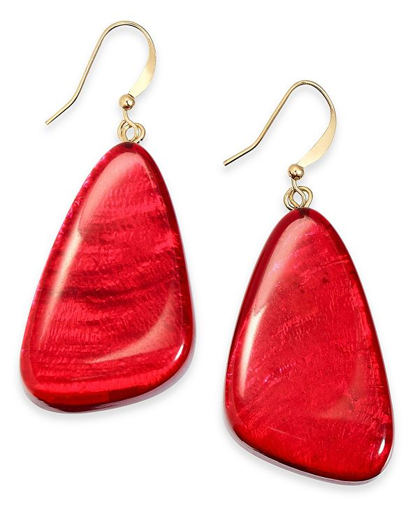 Style & Co Resin Drop Earrings, Created for Macy's