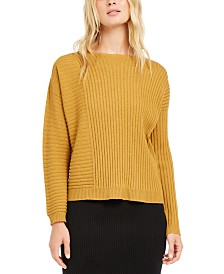 Eileen Fisher Ribbed-Knit Cashmere Sweater