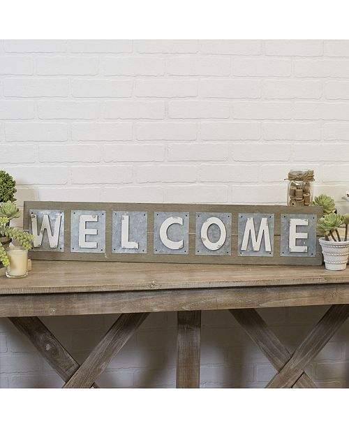 "VIP Home & Garden VIP Home International Wood and Metal ""Welcome"" Word Art"