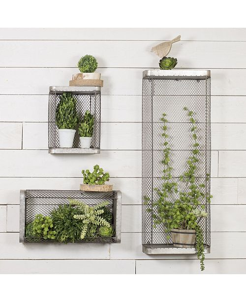VIP Home & Garden VIP Home International 3-Piece Metal Shelves