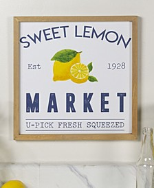 "VIP Home International Wood ""Lemon Market"" Sign"