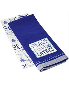 Peace Love Latkes Dishtowels Set