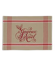 Design Imports Joyeux Noel Printed Placemat Set