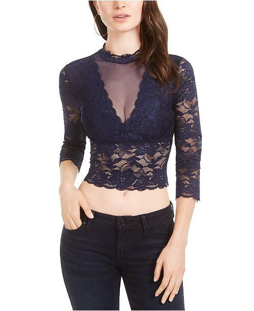GUESS Renny Lace Crop Top