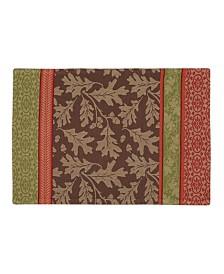 Design Imports Great Oak Stripe Jacquard Placemat Set