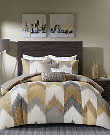 INK+IVY Alpine King/Cal King Cotton Printed Comforter Mini Set Yellow