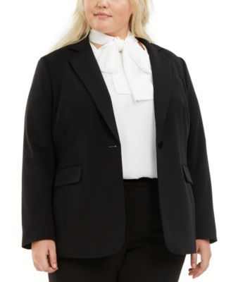 Plus Size One-Button Blazer, Created For Macy's