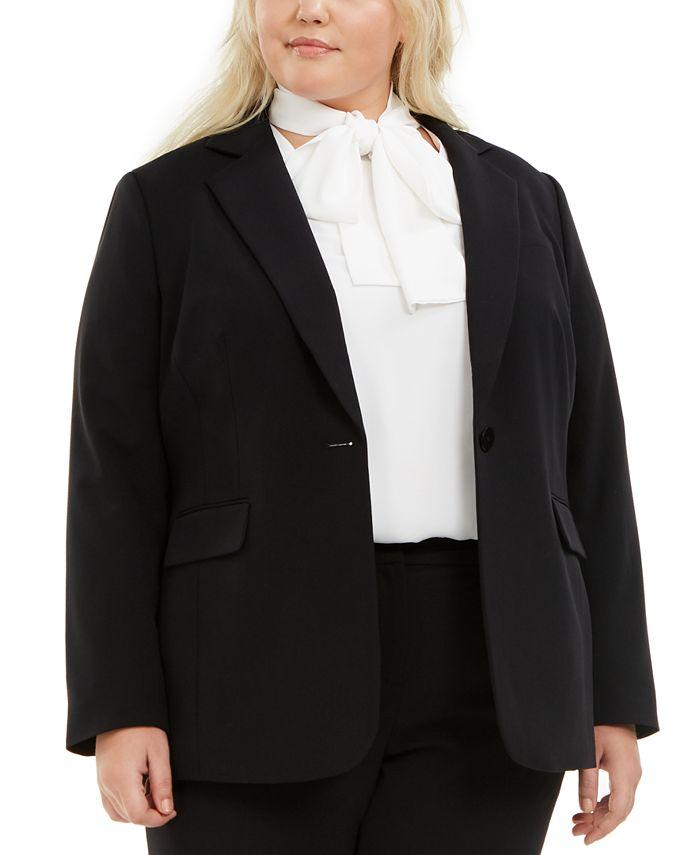 Bar III - Trendy Plus Size One-Button Blazer